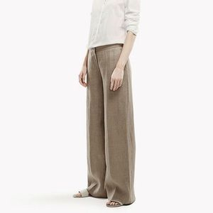 Amazing High Waist Full Length Linen Trousers